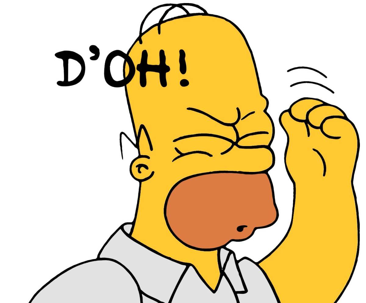 Homer Simpson Doh Sound Effect Download I15 image in Vector cliparts category at pixy.org